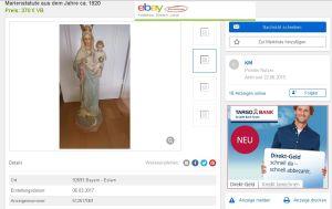 Screenshot vom 06.03.2017 - ebay-kleinanzeigen.de - Angebot einer Marienstatue