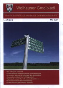 "Cover of the ""Woihauser Gmoibladl"""