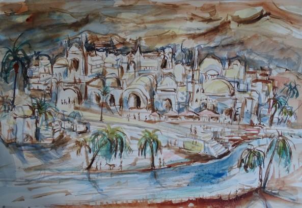 Oriental-dream-Aquarell-Watercolour-Nadia-Baumgart-3