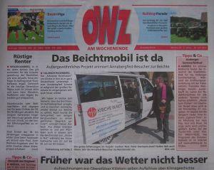 """Cover der Wochenendausgabe der """"Oberpfälzer WochenZeitung"""" (22.07.2017)"""