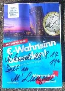 """Flyer-""""Eingabe"""" v. 25.08.17"""